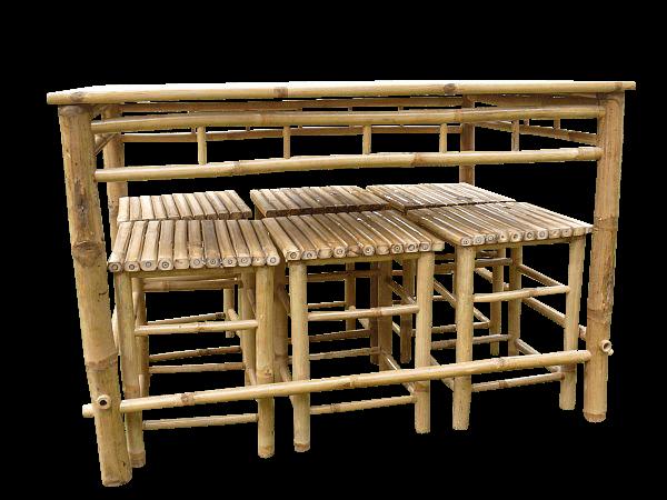 Bamboe Set met krukjes